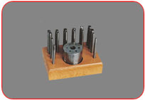 Punch  Set  of  16  &  Riveting Stand