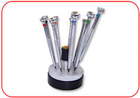 Screw  Drivers with Revolving Stand
