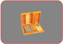 Screw  Drivers  with  Wooden Box and Spare Blades